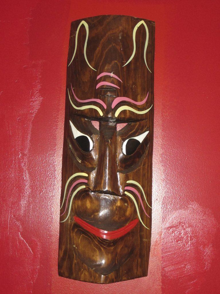 Tiki mask at New China Tea in West Elsdon. Photo: John Greenfield